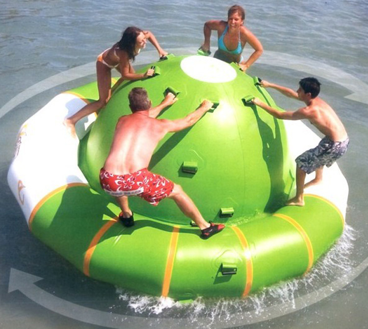 water gyro 3.0*1.8 M water game playing inflatable toy summer water park inflatable water spoon outdoor game water ball summer water spray beach ball lawn playing ball children s toy ball