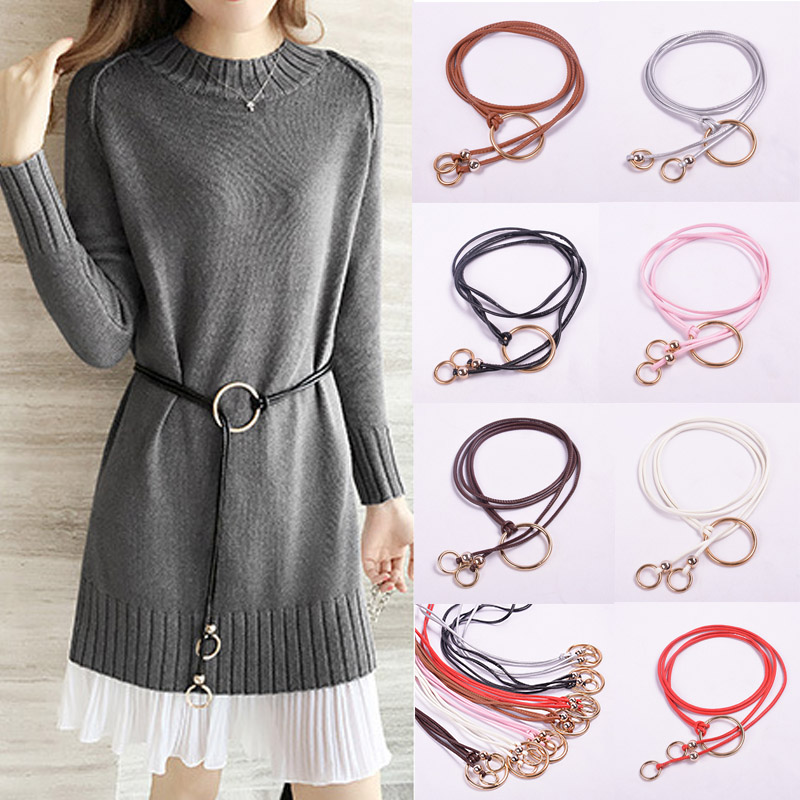 Womens Belt Leather Sweater Dress Belt Hemp Rope Braid Bohemia Female Waist Belt Einture Homme Ceinture Femme Cintos De Mujer Apparel Accessories