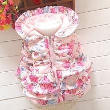 BibiCola Autumn Winter Baby Girls Jacket Coats Kids Jacket Coats Children Jackets Outerwear Flowers Clothing