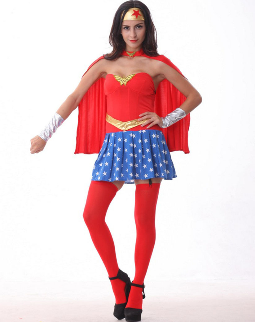 Superwoman and wonder woman costumes-4015