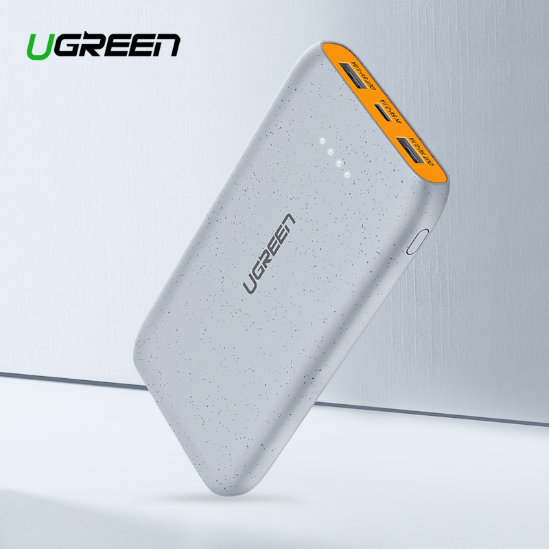 Ugreen Power Bank 20000 mAh Slim Power Für Xiao mi mi 8 Tragbare Externe Batterie Ladegerät Für iPhone 7 8 X Dual USB Pover Bank