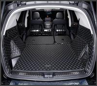 Полный задний багажник кассетного Коврики Этаж протектор ног Pad Коврики для Benz GLE Спорт W166 купе GLE320 GLE400 GLE450 2015 2017