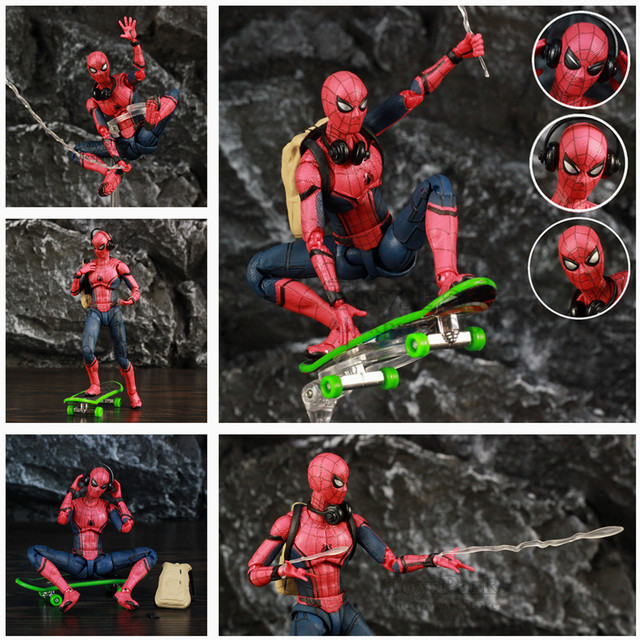 """Marvel Homem Aranha Tom Holland 6 """"Ver Lendas Spiderman Action Figure do Regresso A Casa Longe de Casa KO SHF Brinquedos boneca"""