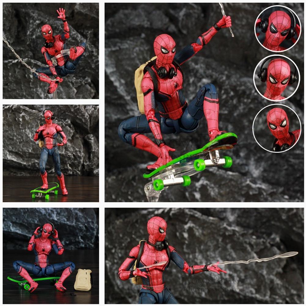 """Marvel Spider Man Tom Holland 6 """"Figure d'action retour Ver Spiderman légendes loin de la maison KO's SHF jouets poupée"""