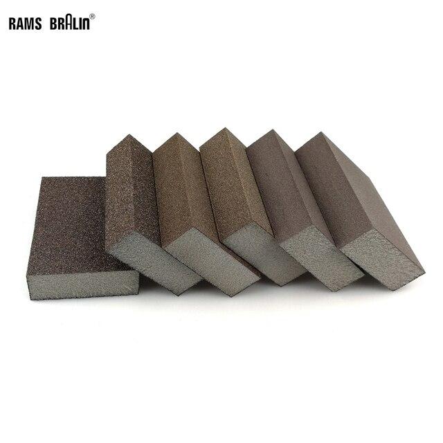 20 peças de lixar esponja bloco abrasivo espuma almofada para madeira parede cozinha limpeza mão moagem