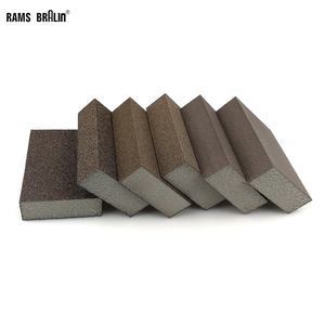 Image 1 - 20 pieces Sanding Sponge Block Abrasive Foam Pad for Wood Wall Kitchen Cleaning Hand Grinding