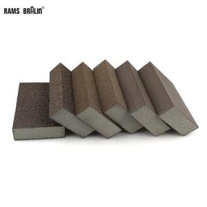 Image 1 - 20 sztuk szlifowanie blok z gąbki ścierna piankowa podkładka na ściana z drewna sprzątanie kuchni szlifowanie ręczne