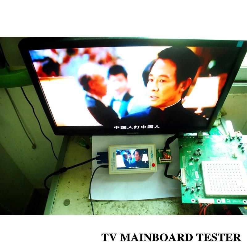 TKDMR New TV160 Full HD LVDS Turn VGA LED LCD TV Mainboard Tester Tools Converter Display