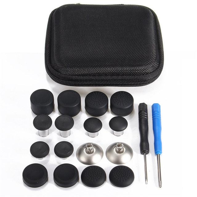 18 swap pçs/set magnética botão substituição thumbsticks joystick caps para xbox one controlador gaming elite com saco de armazenamento