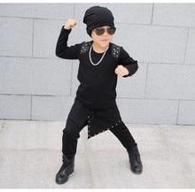 New Fashion cotton Children's Clothing Harem Hip Hop Dance Pants Panelled Spliced Sweatpants Pockets kids Punk sports trousers