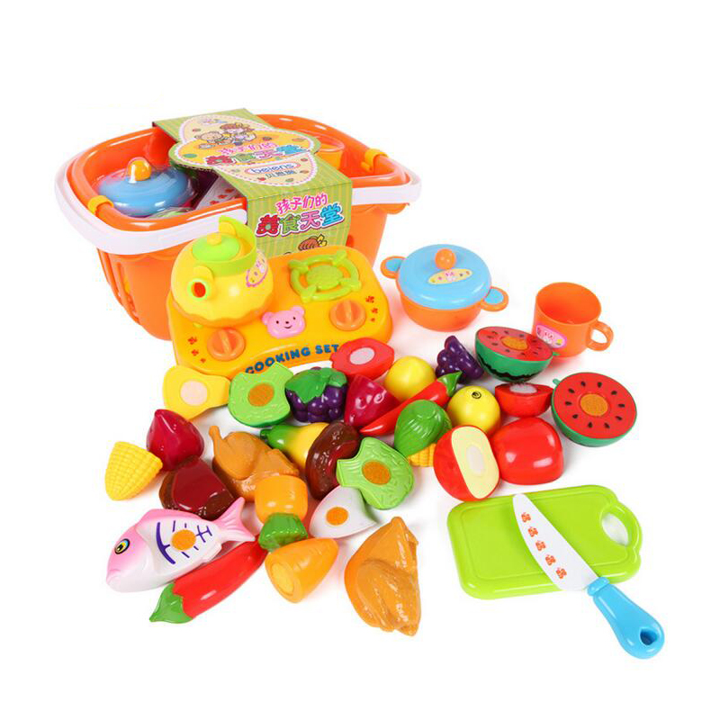 Plastic Toy Food : Aliexpress buy pcs set kitchen fun cutting fruits