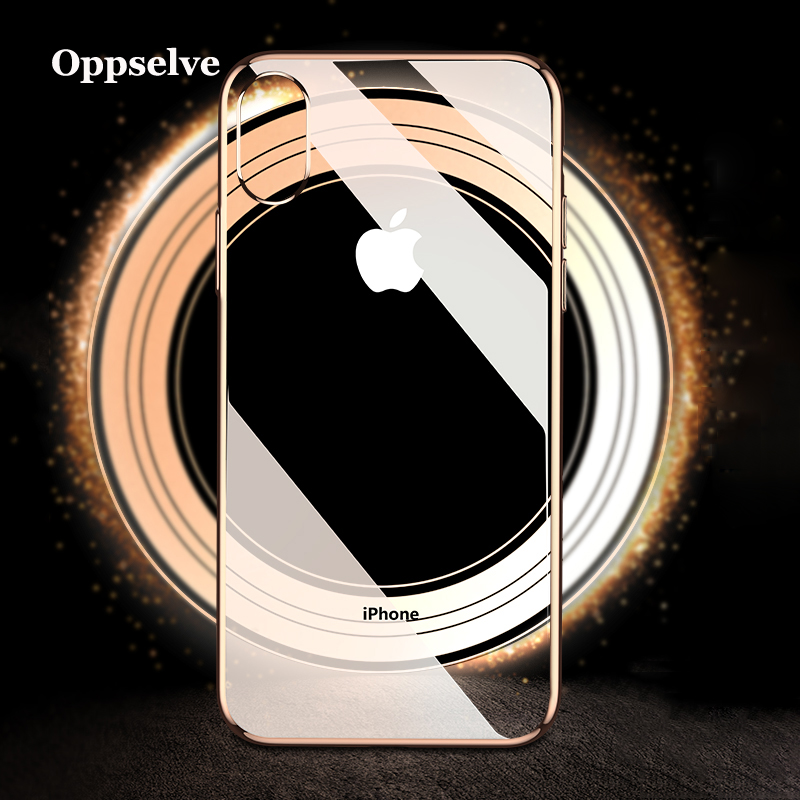 Luxury Plating Case For iPhone Xs Max Xr X 8 7 6 S 6S Plus Capinhas Soft TPU Silicone Back Cover For iPhone Xsmax Coque Fundas in Fitted Cases from Cellphones Telecommunications