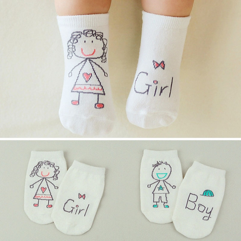 Cute Spring Autumn Baby Socks Newborn Cotton Baby Boys Girls Cute Toddler Asymmetry Anti-slip Socks For Babies Winter
