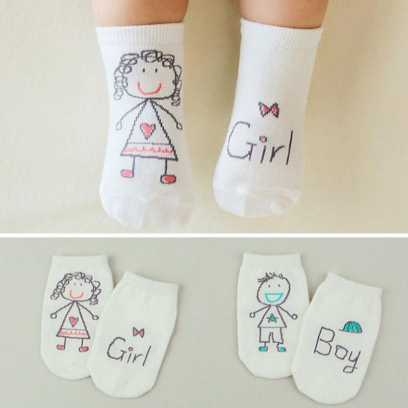 Милые весенне-осенние детские носки для новорожденных хлопковые Асимметричные нескользящие носки для маленьких мальчиков и девочек на зим...