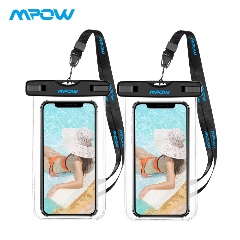 Mpow 2 Pack Universal 6.0 Inch Ipx8 Waterproof Phone Pouch Outdoor Sport Pouch Bag Cheapest Cover For Iphone X/8/8plus/7/7plus Easy To Use Sleepwear