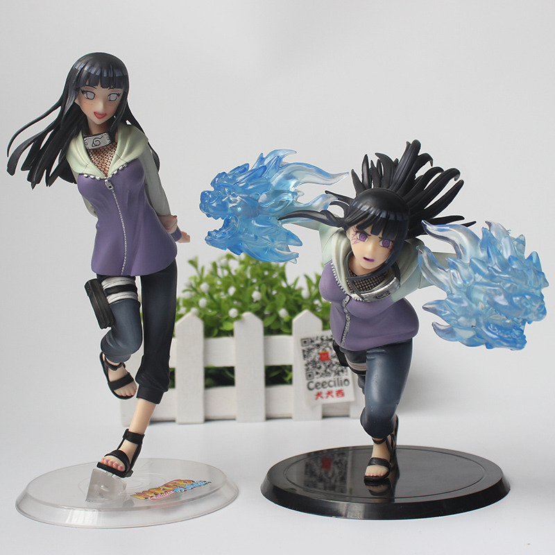 2style Cartoon Naruto Girls Hyuuga Hyuga Hinata PVC Action Figure Doll Model Collectible Toys new hot 18cm naruto hyuga hinata hinata hyuga combat version action figure toys collection christmas gift doll