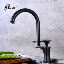 Kitchen Sink Brass Faucet Fashion Rose Gold Carved Single Handle Decorative WaterTap Hot And Cold Bathroom Basin Faucets