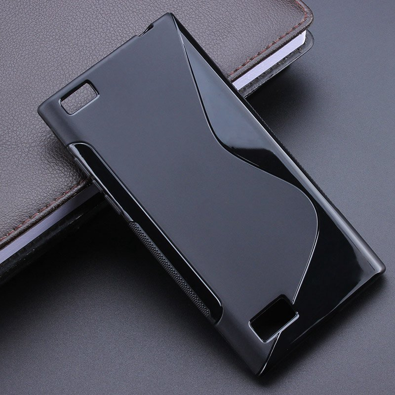 Black S-Line Anti Skidding Gel TPU Slim Soft Case Back Cover For Blackberry Leap BB Leap Z20 Mobile Phone Rubber silicone Cases