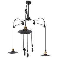 3 способ металла Винтаж Лофт ретро подвесной светильник бра E27 ночь шкив лампы, светильники Ресторан Бар украшения дома