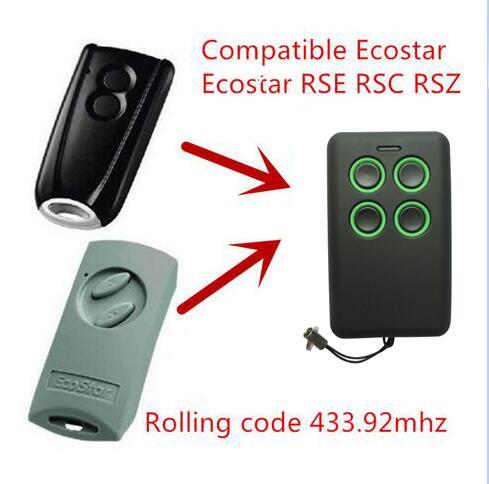 garage door remote control compatible with hormann ecostar rse2 rsc2 handsender 433 mhz rolling. Black Bedroom Furniture Sets. Home Design Ideas