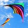 Envío gratuito de alta calidad nuevo diseño del arco iris de tela de nylon ripstop cometa delta cometa weifang kite fábrica hcxkite juguetes al aire libre