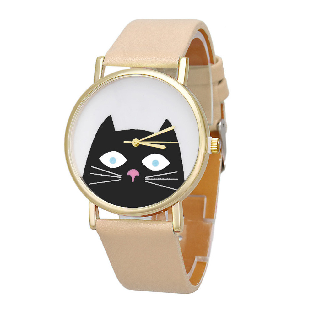 Zerotime #501 2019 NEW FASHION Wristwatch Cat Women Men Leather Band Analog Quartz Dial Wrist Watch Luxury CASUAL Free Shipping