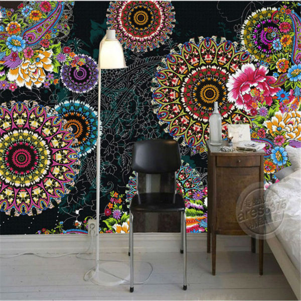 Charming paisley pattern flowers wallpaper 3d photo wallpaper custom mural painting wall art room decor kid