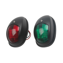 1 Pair Marine Boat Yacht Navigation Light 12V Red Green Accessories