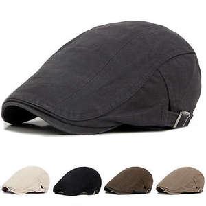 a91893e23b9 Mens Solid Cotton Cap Golf Driving Flat Cabbie Beret Hat