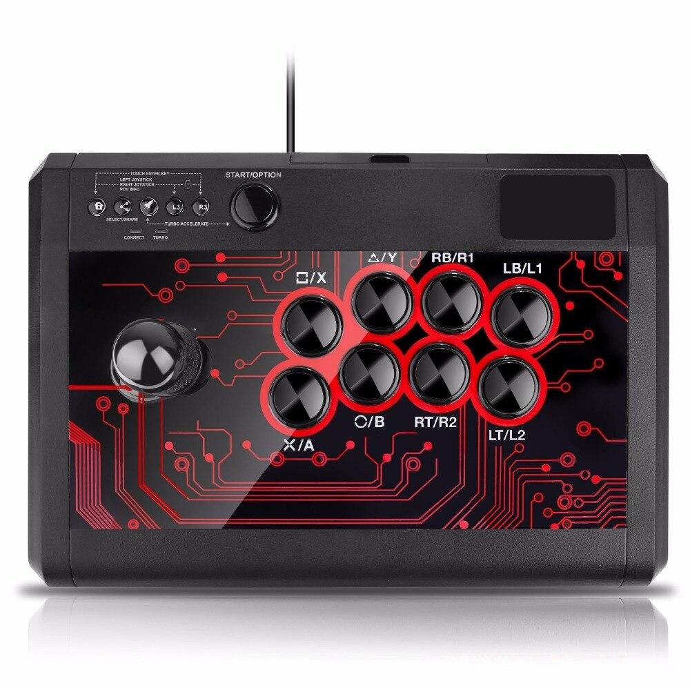 Manette de combat de bâton de combat d'arcade pour Sony Playstation 4 PS4/mince/Pro/PS3/XBOX ONE S/XBOX 360/PC/Android/commutateur - 4