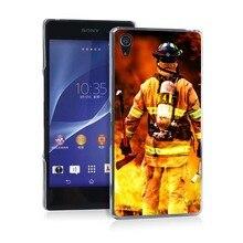 Firefighter Rescue Pretty Funny UV Black Bag Case For Sony Z2