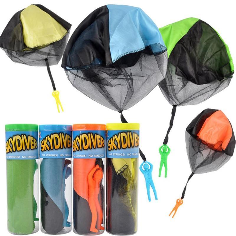 Kids Children 45cm Hand Throw Cloth Parachute Classic Funny Toys Birthday Gift