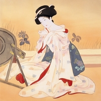 Vintage Home Decoration Japanese Pictures Canvas Painting For Living Room Wall Decor Kimono Woman Poster Wall
