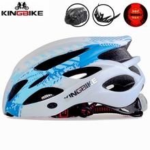 KINGBIKE kask rowerowy kobiety mężczyźni kask rowerowy górskie drogi z daszkiem MTB kaski rowerowe bezpieczeństwa tylne światło casco ciclismo tanie tanio cycling helmet 230G Formowane integralnie kask 20 (Dorośli) mężczyzn capacete ciclismo Casco Ciclismo men women Cycling Helmet