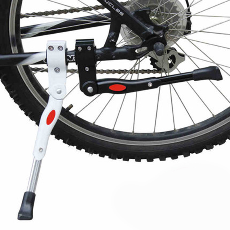 2016 High Quality Adjule Bike Side Kickstand Stand Road Mtb Mountain Bicycle Black White Cycling Foot Brace Free Shipping