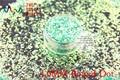 TCR333 Americano Fantasía Iridiscente Luz Verde escarcha polvo del Punto Redondo Forma para uñas de Arte u otros DIY decoración