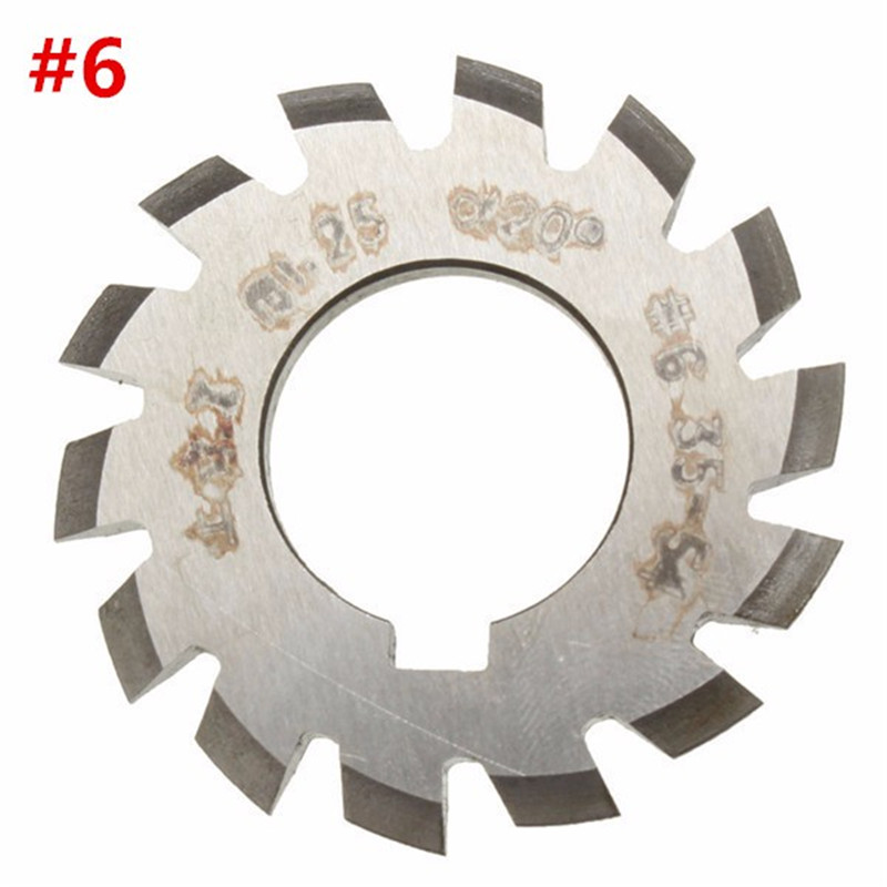 Diameter 22mm M1.25 20 Degree #6 34-54 Gear Involute Gear Cutters HSS Module High Speed Steel HOT