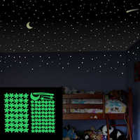 103Pcs Glow In The Dark Sticker Luminous Star Moon DIY Phosphorescent Wall Stickers for Baby Bedroom Wall Decals Home Decor