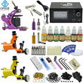 OPHIR PRO Complete Tattoo Kit Dragonfly Rotary Tattoo Machine Guns 7 Colors Tattoo Ink & Needle &Tattoo Nozzle & Grips_TA077
