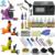 OPHIR PRO Kit Completo Del Tatuaje de la Libélula Rotary Tattoo Machine Guns 7 Colores de Tinta Del Tatuaje y Agujas y agujas de Tatuaje Boquilla y Grips_TA077