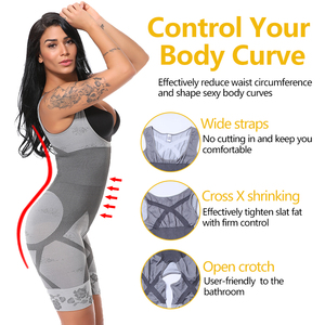 Image 3 - Vaslanda mulheres pós natal pós parto bodysuits emagrecimento roupa interior recuperar shapewear cintura espartilho bumbum levantador shaper
