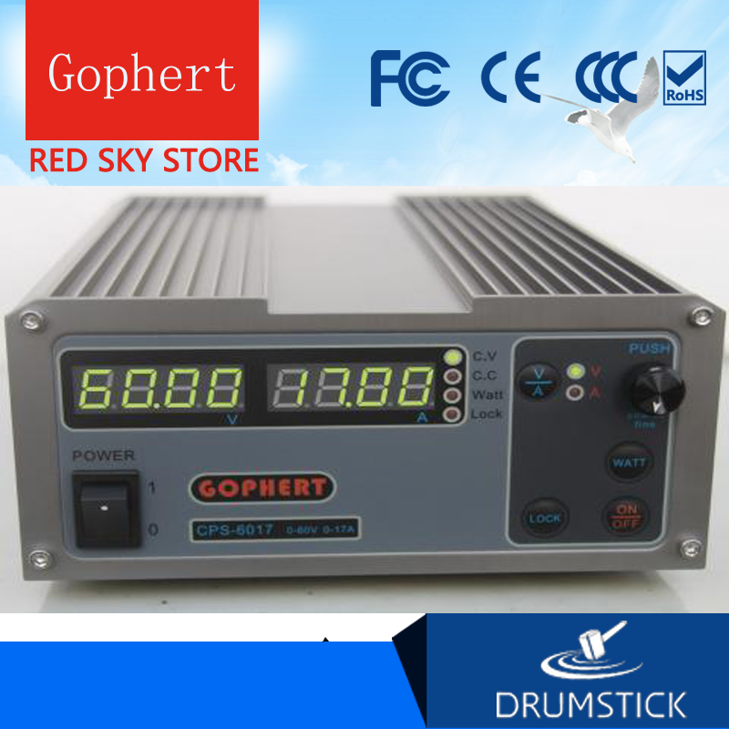 Gophert CPS-6011 DC Switching Power Supply Single Output0-60V 0-11A 640W adjustable cps 6011 60v 11a precision pfc compact digital adjustable dc power supply laboratory power supply