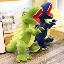 Hot new 1pc 60CM/90CM New Dinosaur Plush Toys Cartoon Tyrannosaurus Cute Stuffed Toy Dolls for Kids Children Boys Christmas Gift