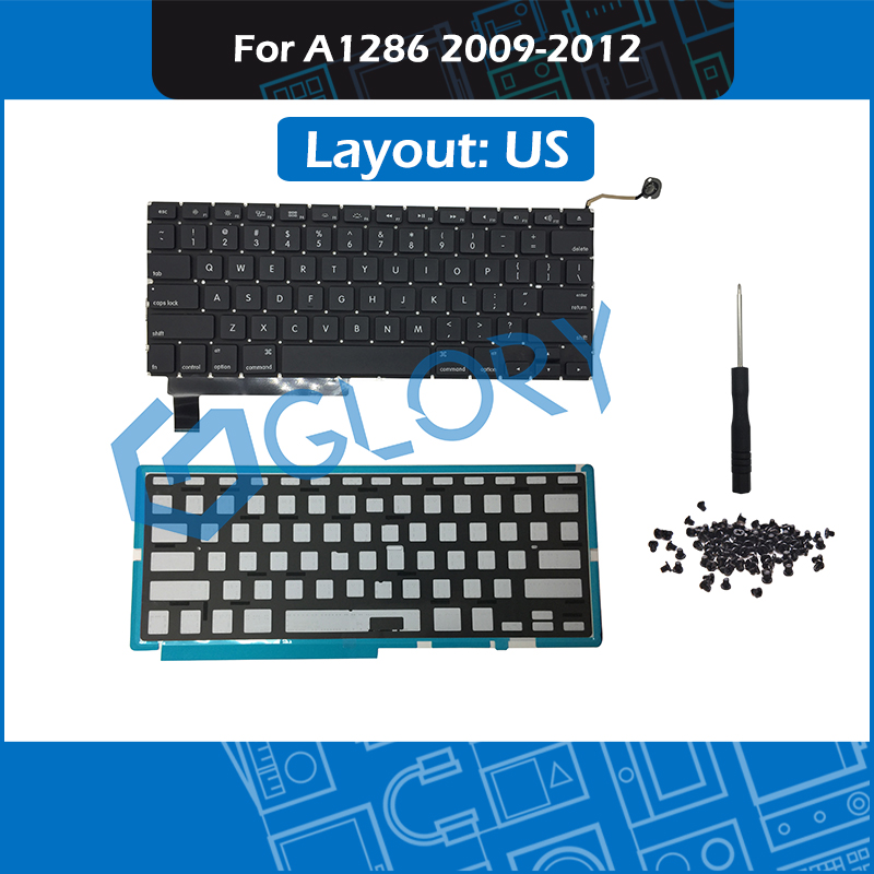"""US Keyboard+BackLight+Screws for MacBook Air 13/"""" A1369 2011 A1466 2012-2015 New"""