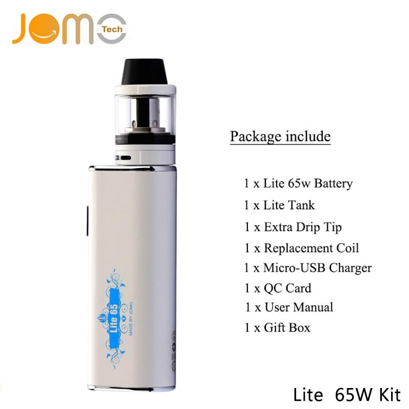 Original JomoTech 65w Box Mod Electronic Cigarette Kit Vape Mod E Cigarette 2200mAh 0 4ohm Hookah