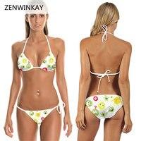 Female Bandage Bathing Suit Women White Swimsuit 2017 Swimwear Bikini Set Summer Swim Wear Beach Mini