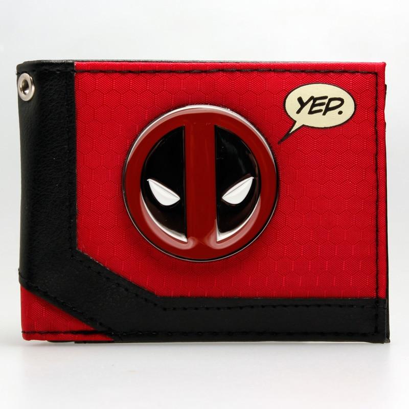 Marvel Deadpool Bi-Fold Boxed Wallet DFT-1924 captain america black metal badge bi fold wallet faux leather dft 1413