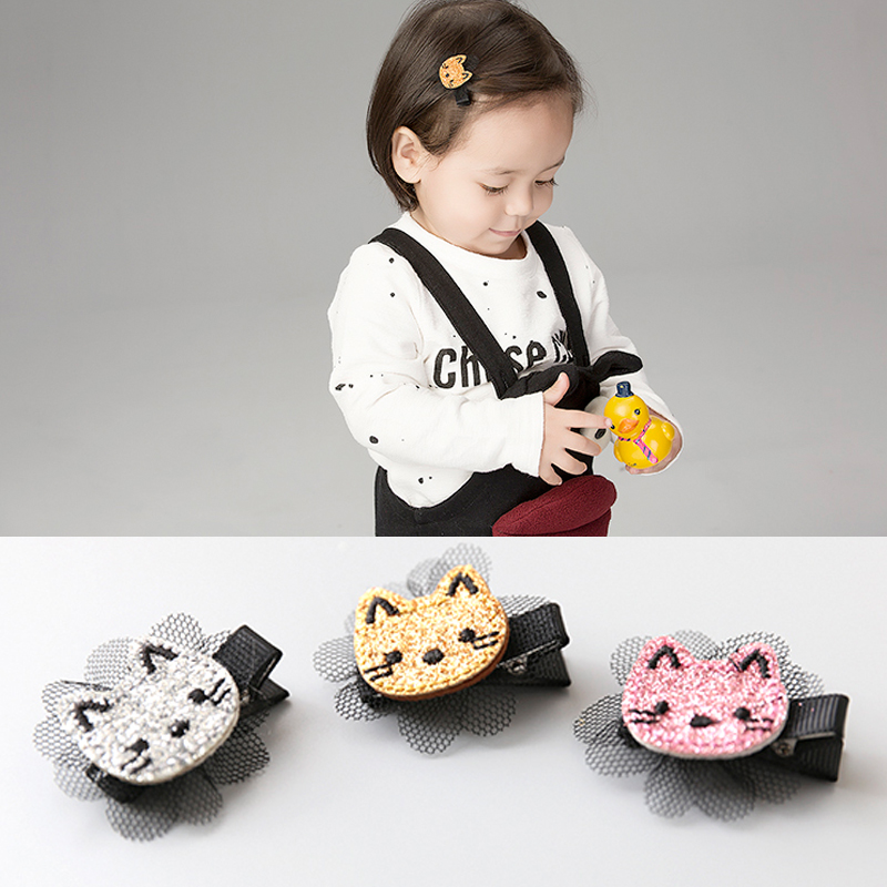1 PCS  New Korean Angela Cute Baby Clip Girls Hairpins Cartoon Kitten Hair Clips Kids Children Accessories baby cute style children accessories hairpins rabbit fur ear kids girls barrette lovely hair clip