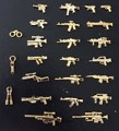 22pcs Pogo Military Series Weapons Bricks Army Soldier  toys Golden AK GUN Shotgun Police Compatible With l