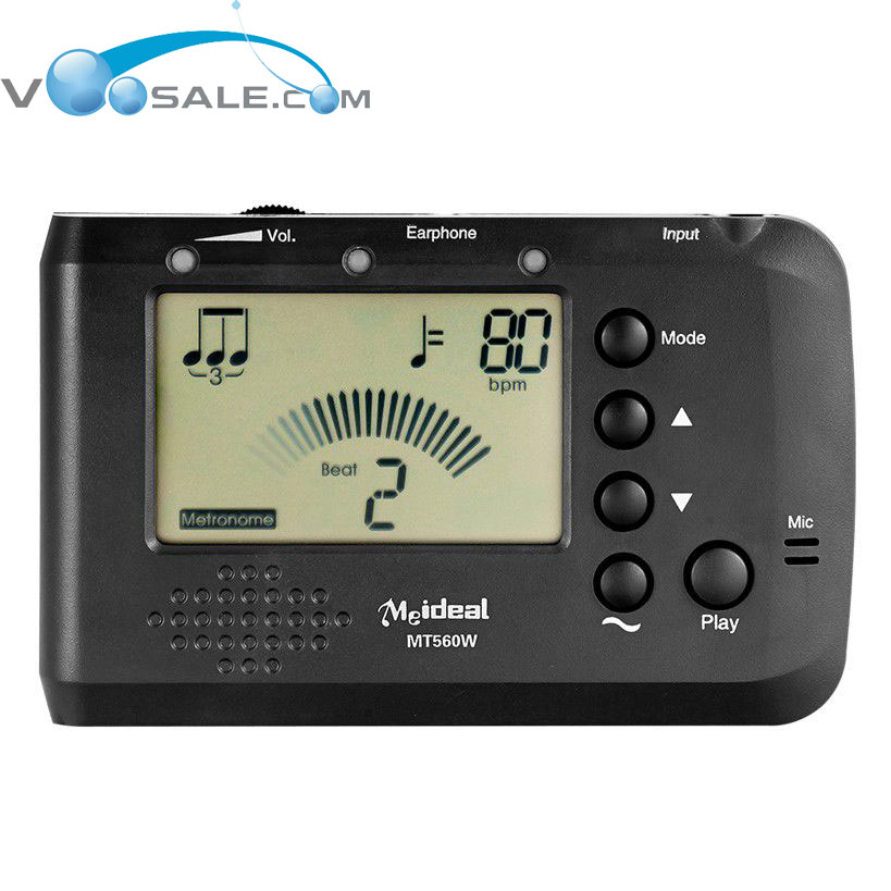 MT560W Metronome Tuner Tone Generator LCD With Digital Needle-Style Display For Guitar Bass Violin Cello